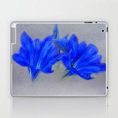 Painted Blue Gentians Floral Laptop & iPad Skin