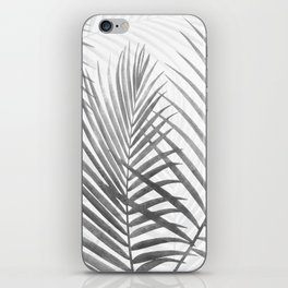 Black and White Tropical Palms iPhone Skin