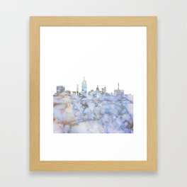 Lansing Skyline Michigan Framed Art Print