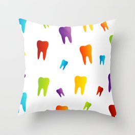 Colorful Sweet tooth Throw Pillow
