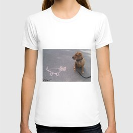 """""""Cat Skeptical"""" from the photo series""""My dog, PLaY-DoH"""" T-shirt"""