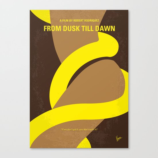 No127 My FROM DUSK TILL DAWN minimal movie poster Canvas Print