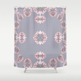 Pale pink wildflowers Shower Curtain