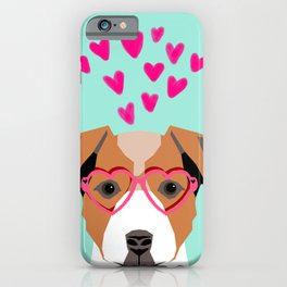 Jack Russell Terrier valentines day hearts love dog lover dog person gifts for valentine iPhone Case