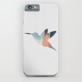 Pastel Hummingbird iPhone Case