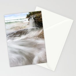Elliot Falls on Miners Beach - Pictured Rocks, Michigan Stationery Cards