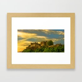 Stirling Castle at Dusk Framed Art Print