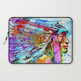 Native American Portrait Laptop Sleeve