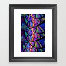Stained Glass Fractal Framed Art Print