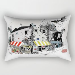 Street view pen drawing London illustration Rectangular Pillow