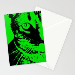 Green Cat Stationery Cards