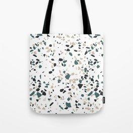 Terrazzo White Green Khaki Black Tote Bag