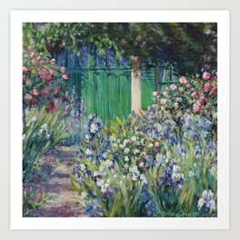 Monet's Door — Giverny, France Art Print