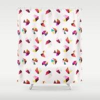 diamonds Shower Curtains featuring diamonds by silviarossana