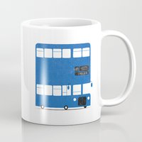 chelsea Mugs featuring Chelsea bus by Alberto Faria