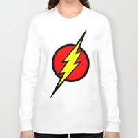 the flash Long Sleeve T-shirts featuring Flash by Sport_Designs