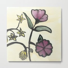 Chinese Flowers Metal Print