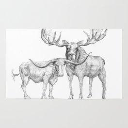 Longhorn and Moose Rug