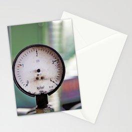 Broken pressure gauge Stationery Cards