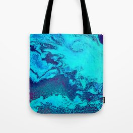 Electric Blue and Magenta Swirl (Color) Tote Bag