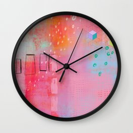 are you pretending - abstract painting Wall Clock