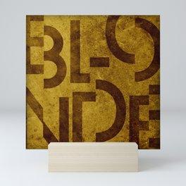 Blonde Beer Typography Mini Art Print