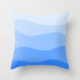 The Hills Have Spines - Blue Throw Pillow