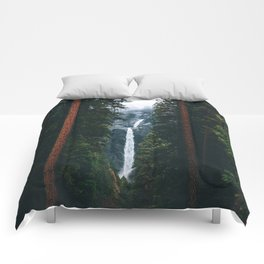 Yosemite Falls - Yosemite National Park, California Comforters