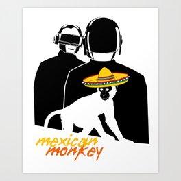 Daft Mexican Monkey Art Print