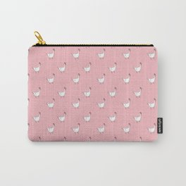 Pink Roosters Carry-All Pouch