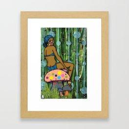 Erudite in The Reeds Framed Art Print
