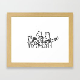 Tourists of New York City Illustration (Animals) Framed Art Print