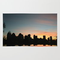 cincinnati Area & Throw Rugs featuring Cincinnati Skyline by Page Lansley