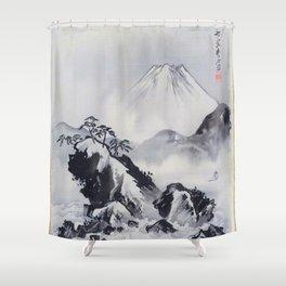 12,000pixel-500dpi - Kawanabe Kyosai - Mount Fuji - Digital Remastered Edition Shower Curtain