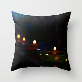 Candle Lit Throw Pillow