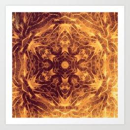 Abstract earth tone mandala Art Print