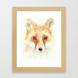 Watercolour Fox Framed Art Print