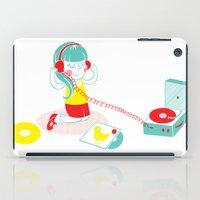 vinyl iPad Cases featuring Vinyl by Samantha Eynon