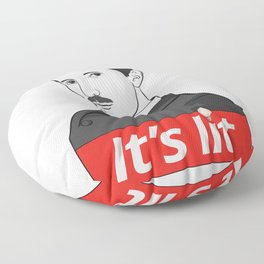 It' s lit Floor Pillow