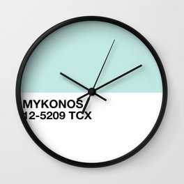 mykonos Wall Clock