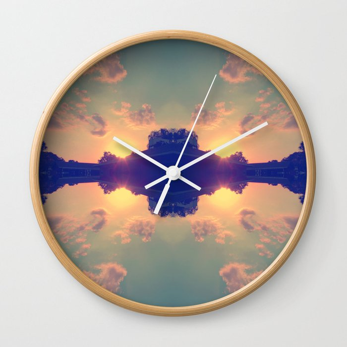 Multiple Sunsets  Wall Clock