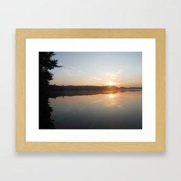 Adirondack Sunrise Framed Art Print