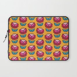 Floral mix yellow background Laptop Sleeve