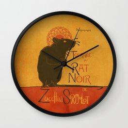 Le Rat Noir Wall Clock