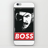 metal gear iPhone & iPod Skins featuring Big Boss - Metal Gear Solid by TxzDesign