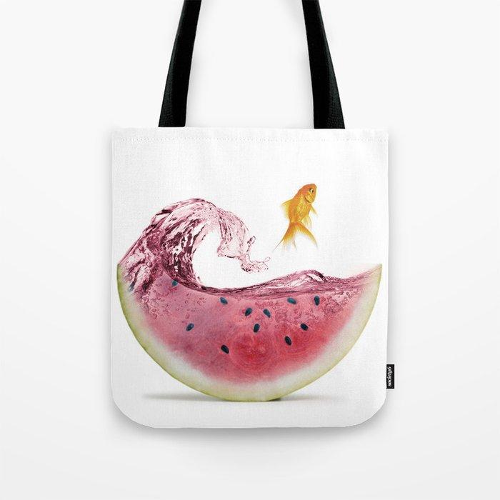 watermelon goldfish Tote Bag
