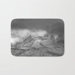 """Wild mountains"". BW Bath Mat"