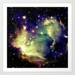 Nebula Galaxy (deep pastels) Art Print