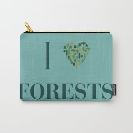 I heart Forests Carry-All Pouch