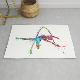 Rhythmic Gymnastics Print Sports Print Watercolor Print Rug